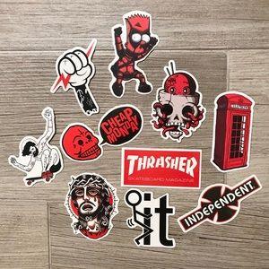 10 Skateboard Stickers